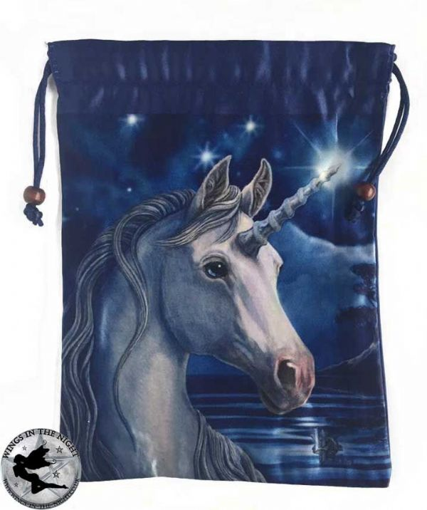 LISA PARKER Sacred One Unicorn Silk Tarot Bag